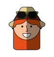 tourist woman avatar character vector image