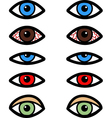 Various eyes vector image vector image
