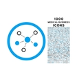 Virtual Links Rounded Icon with 1000 Bonus Icons vector image