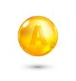 Vitamin A glitter gold icon vector image vector image