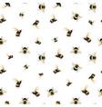 watercolor bumblebee pattern vector image vector image