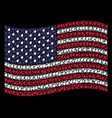waving american flag stylization of plant leaf vector image