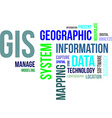 word cloud gis vector image vector image
