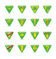 Icon set Green triangles ecology vector image