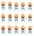 Set of flat farmer icons vector image