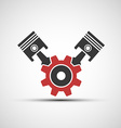 icon of automotive engine vector image