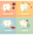 Oral hygiene banners with cute tooth vector image