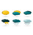 3d graphic weather icons set vector image vector image