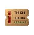 Admit One ticket icon isolated vector image vector image