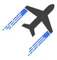airplane trail with fast motion effect vector image vector image