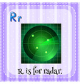 Alphabet R is for radar vector image vector image