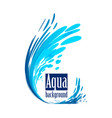 aqua background splash water on white vector image vector image