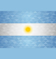argentina country flag of argentinian nation vector image