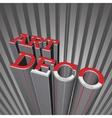 Art Deco Letters vector image