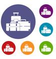 baggage icons set