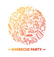 bbq party barbecue grill picnic vector image vector image