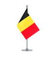 belgian flag hanging on the metallic pole vector image