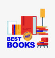best new books vector image vector image