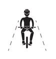 bike ride black concept icon bike ride vector image