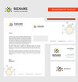 bulb setting business letterhead envelope and vector image vector image