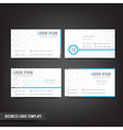 Business Card template set 039 Clear and minimal vector image vector image