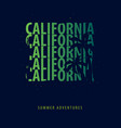 california summer graphic with palms t-shirt vector image
