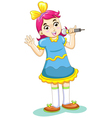 Cartoon Singing Girl vector image