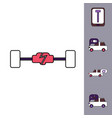 collection of icons and vehicle parts vector image vector image