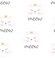 cute princess pattern vector image