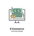 e-commerce lineal color icon vector image vector image
