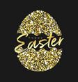 easter card glittering golden eg vector image