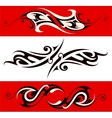 Ethnic tattoo shape vector image vector image