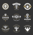 fitness center and sport gym logos and badges vector image vector image