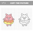 funny pig copy picture children drawing game vector image vector image