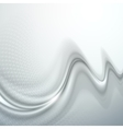 Gray abstract wave vector image vector image