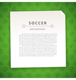 Green Soccer Background with Copy Space vector image vector image