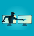 hacker stealing money vector image vector image