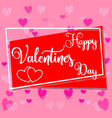happy valentine s day colorful poster frame vector image
