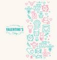 happy valentines day decorative postcard vector image vector image