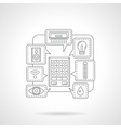 House remote control detail flat line icon vector image vector image