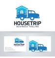 house trip logo design vector image vector image