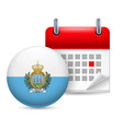 Icon of national day in san marino vector image vector image