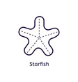 icon of starfish on a white background vector image