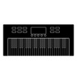 isolated keyboard icon musical instrument vector image vector image