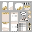 Journaling planner card notes and tags vector image vector image