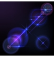 Lens flares star lights glow vector image vector image