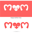Love mom sign vector image vector image