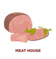 meat house with delicious organic products vector image vector image