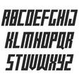 modern bold italic font sans serif typography vector image vector image