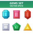 modern set of colorful gems for website or mobile vector image vector image